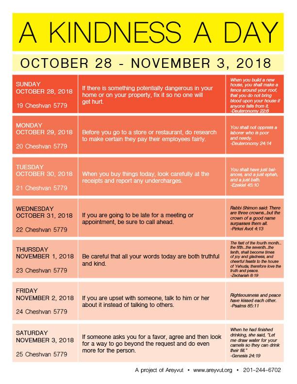 October 28-November 3, 2018